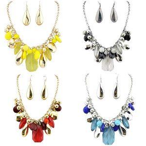 Jewelry - Acrylic statement necklace & earrings set